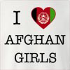 I Love Afghanisthan Girls Crew Neck Sweatshirt