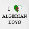 I Love Algeria Boys T-Shirt