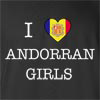 I Love Andorra Girls T-Shirt