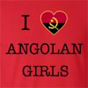 I Love Angola Girls T-Shirt