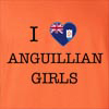 I Love Anguilla Girls T-Shirt