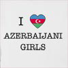 I Love Azerbaijan Girls Hooded Sweatshirt
