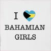 I Love Bahamas Girls Hooded Sweatshirt