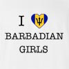 I Love Barbados Girls T-Shirt