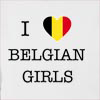I Love Belgium Girls Hooded Sweatshirt