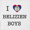 I Love Belize Boys Hooded Sweatshirt