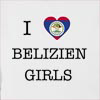 I Love Belize Girls Hooded Sweatshirt