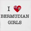 I Love Bermuda Girls Hooded Sweatshirt