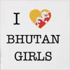 I Love Bhutan Girls Hooded Sweatshirt