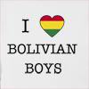 I Love Bolivia Boys Hooded Sweatshirt