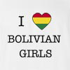 I Love Bolivia Girls T-Shirt