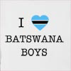 I Love Botswana Boys Hooded Sweatshirt