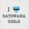 I Love Botswana Girls Hooded Sweatshirt