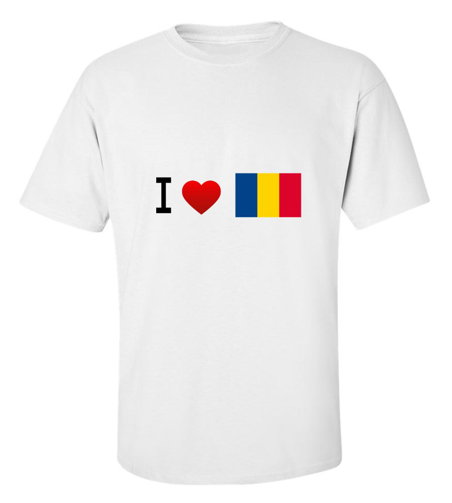 I Love Romania- Flag T- Shirt