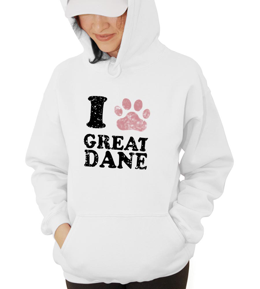 I Great Dane Hooded Sweatshirt