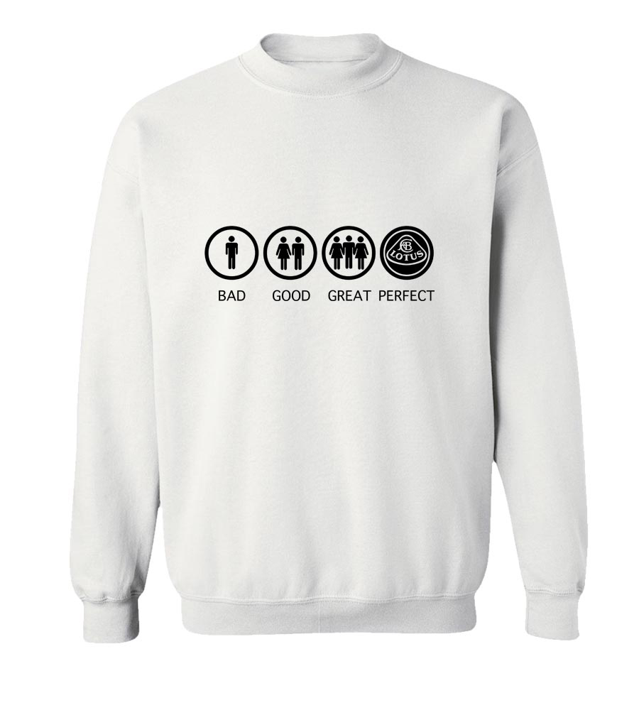 Bad Good Great Perfect Lotus Crew Neck Sweatshirt