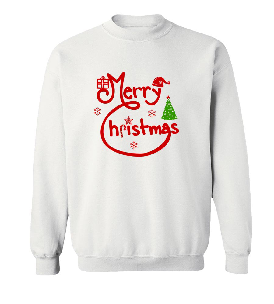 Merry_Christmas Crew Neck Sweatshirt