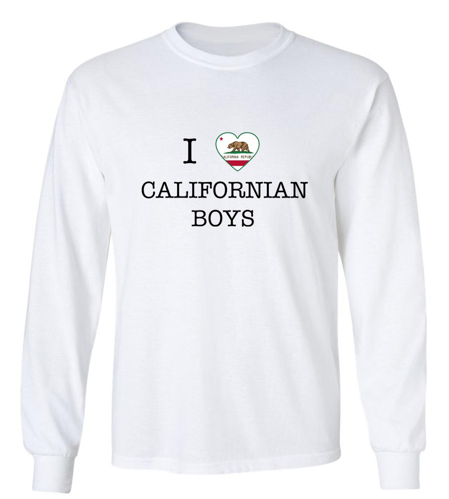I Love California Boys Long Sleeve T-Shirt