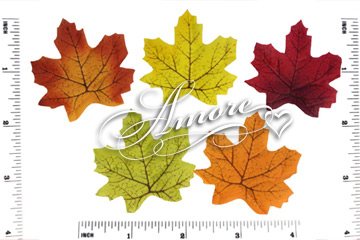 100 Mini Silk Fall Autumn Leaves