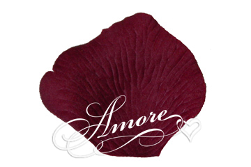 Deep Burgundy Silk Rose Petals Wedding 600