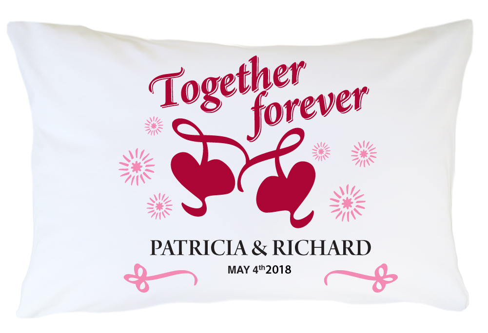 Personalized Pillow Case Set- Together Forever