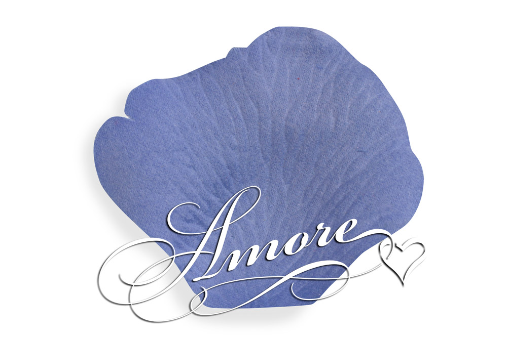 600 Silk Rose Petals Cornflower-Bluelight