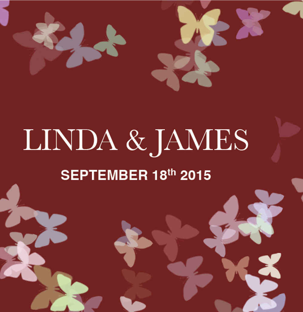 Personalized Lip Balm Wedding Favors - Maroon Butterflies