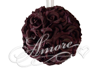 12 inches Silk Pomander Kissing Ball Rave Wine