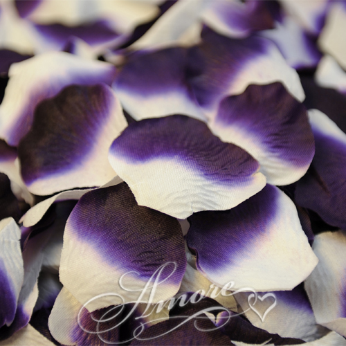 Lapis White Silk Rose Petals Wedding 1000
