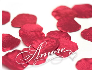 Crimson Red Metallic Red Silk Rose Petals Wedding 4000