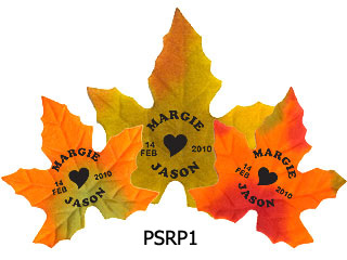 Personalized Silk Fall Leaves 100