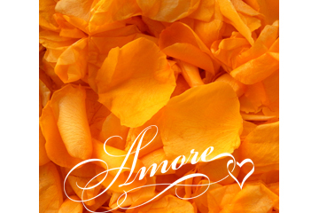 Orange Tangerine Freeze Dried Rose Petals Wedding 1lb