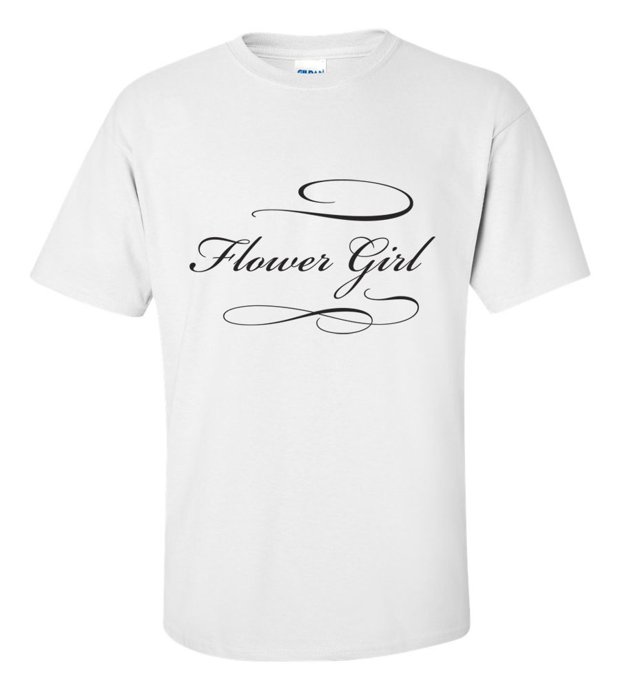 Flower Girl Wedding T Shirt