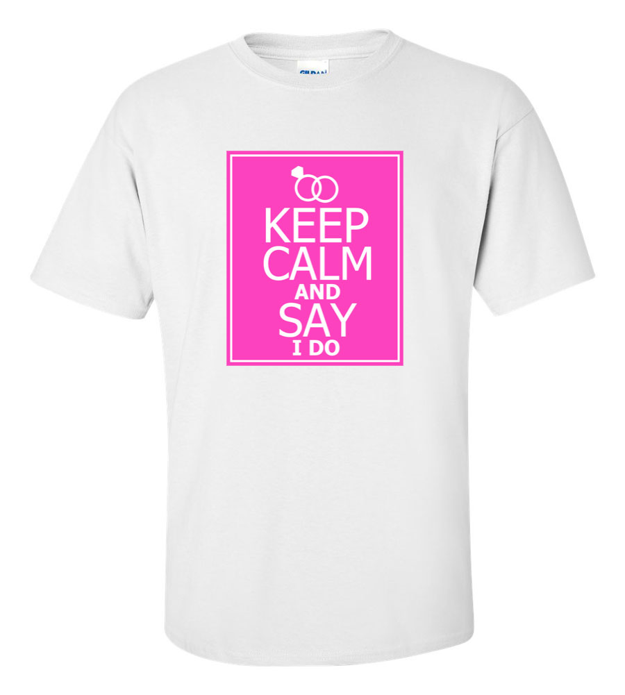 Keep Calm Wedding T Shirt