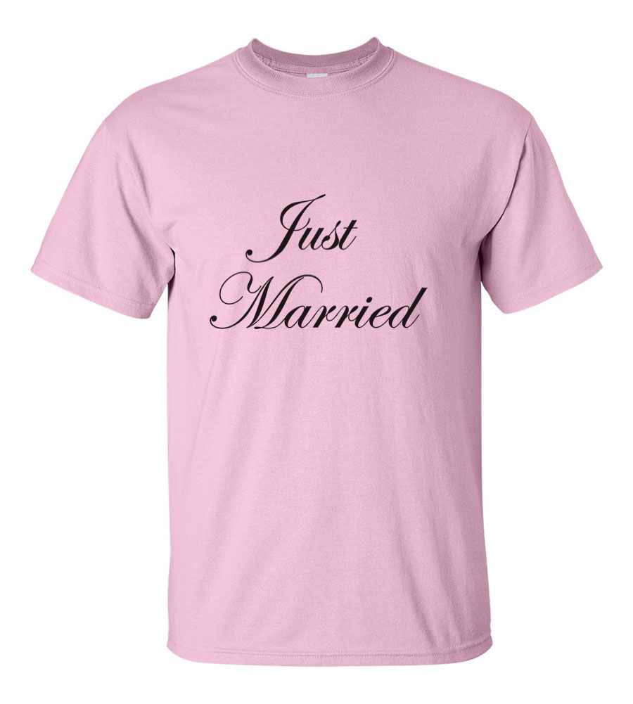 Just Married Wedding T Shirt