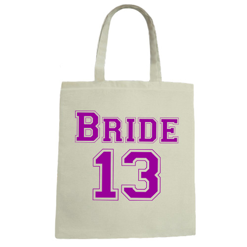 Bride 13 Wedding Canvas Tote Bag
