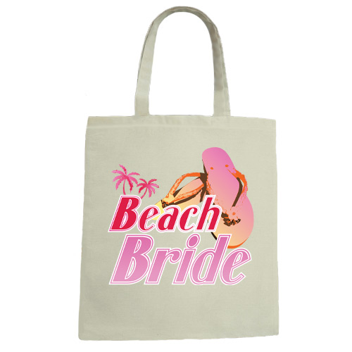 Beach Bride Wedding Canvas Tote Bag
