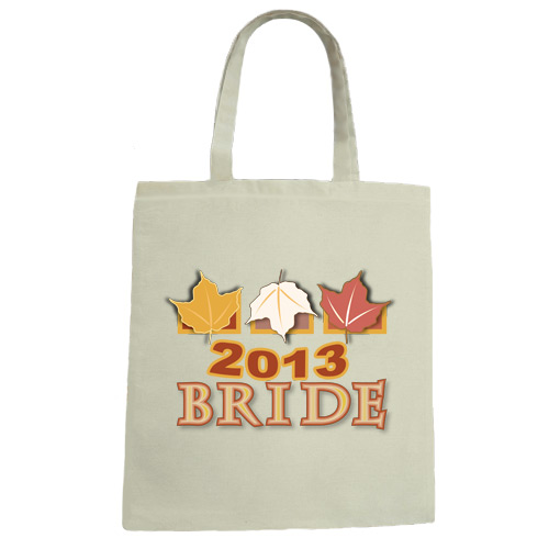 Fall Bride 2013 Wedding Canvas Tote Bag