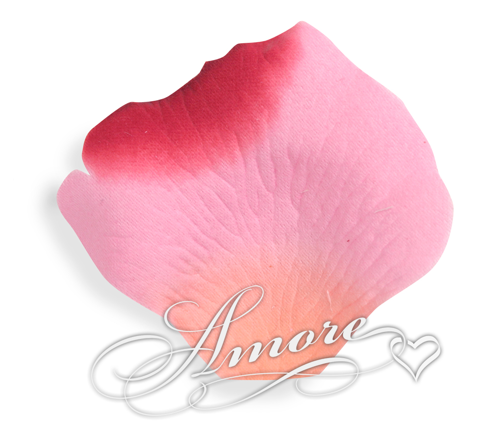 Mirage Apricot Pink Red Silk Rose Petals Wedding 600