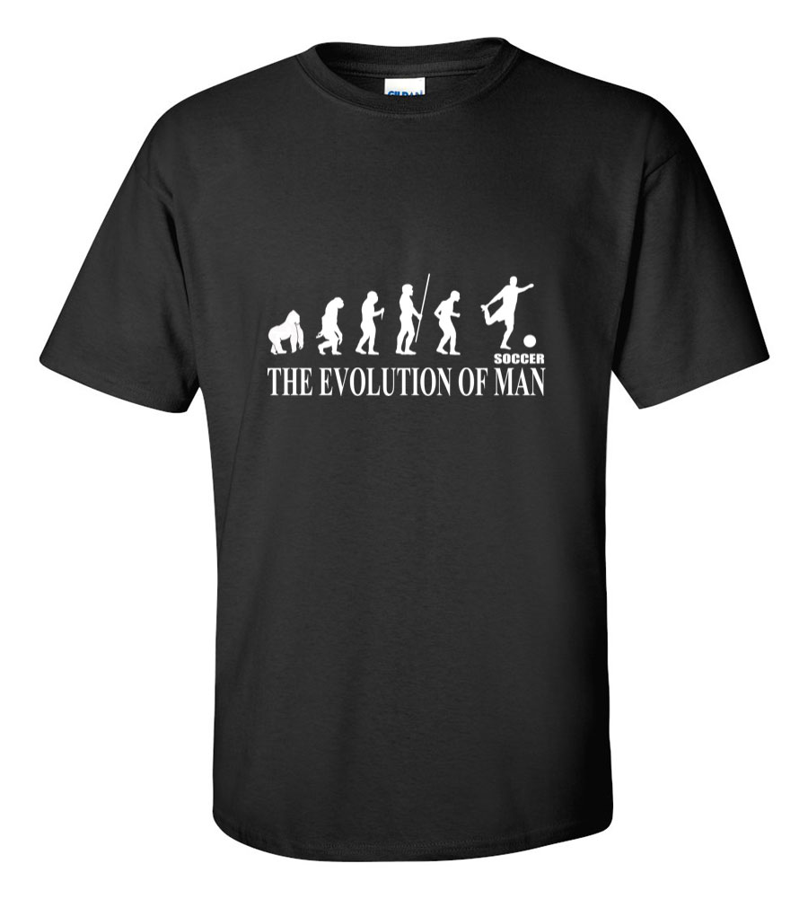 The Evolution of Man Soccer Fifa Uefa T Shirt