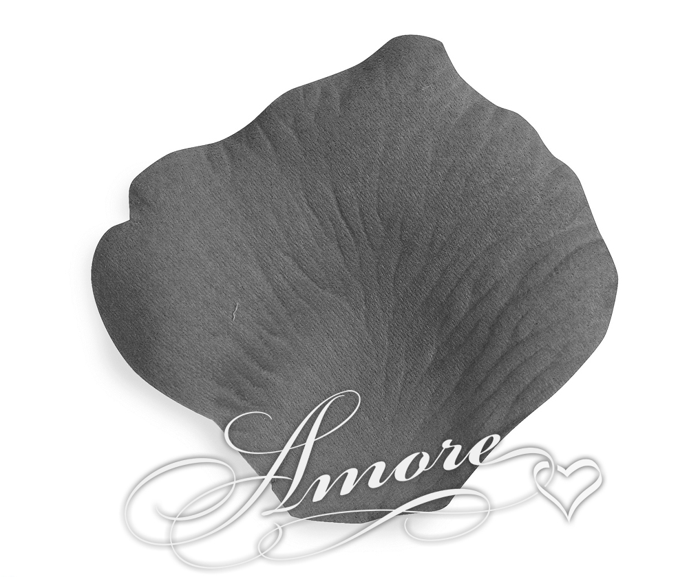 Dove Gray Silk Rose Petals Wedding 600