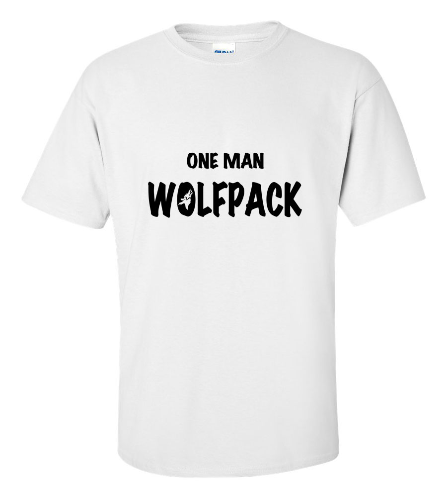 One Man Wolfpack Funny T Shirt