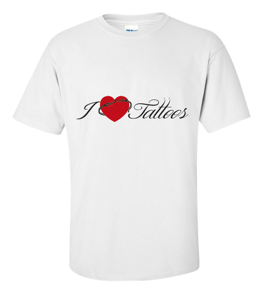 I Heart Love Tattoos T Shirt