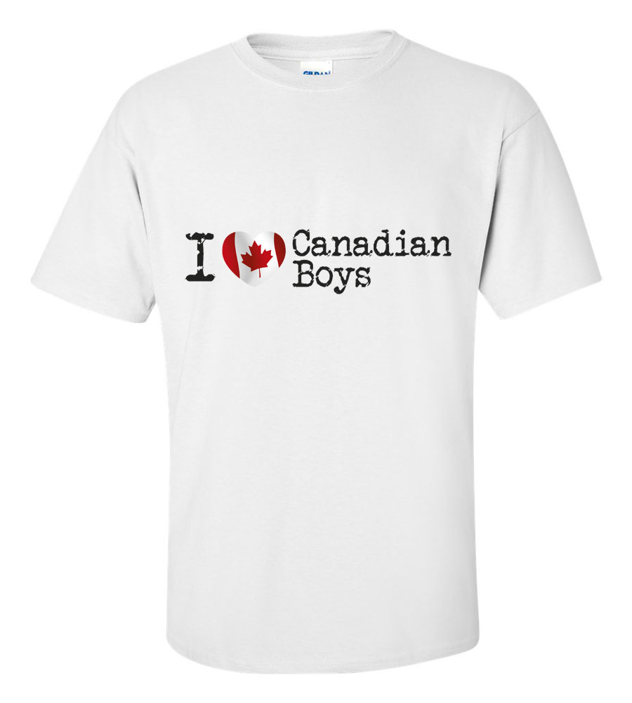 I Love Canadian Boys T Shirt