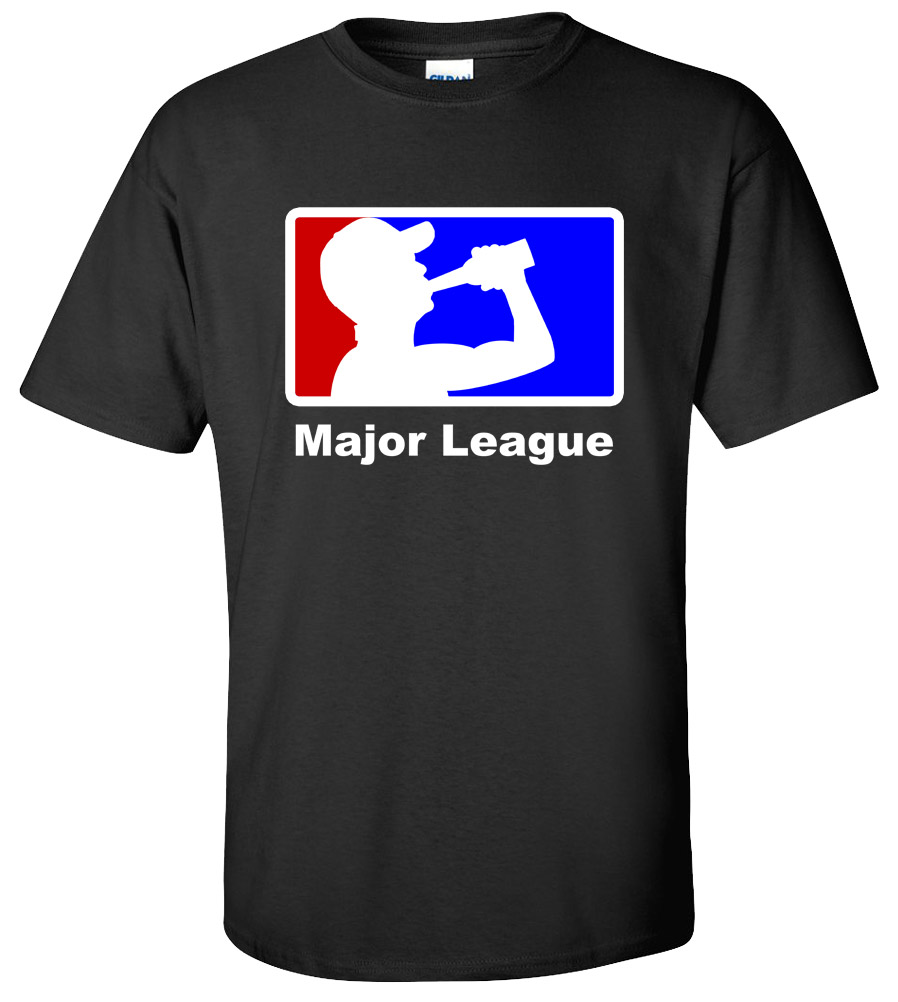 Major League Beer Drinking Funny T Shirt College