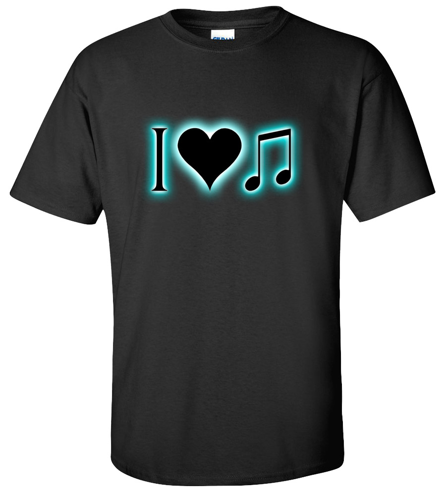 I Love Music Funny T Shirt
