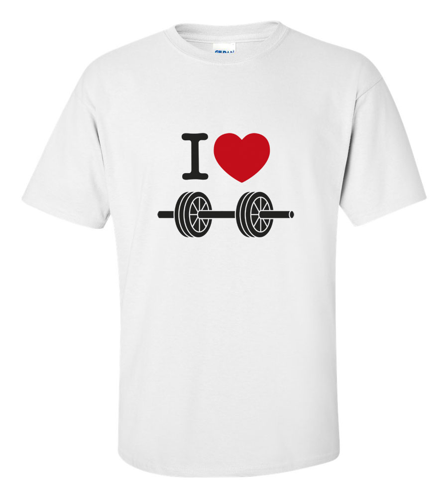 I Love Weights T Shirt