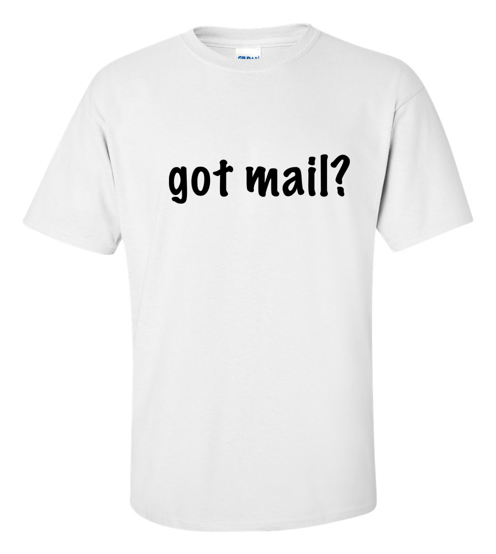 Got Mail Post Office Adult Messenger Delivery Stamps Humor Funny T Shirt