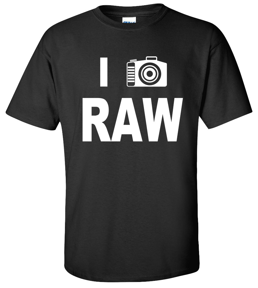 I Shoot Raw  DSLR Camera  Wedding Photographer  Funny T-shirt  New Tee