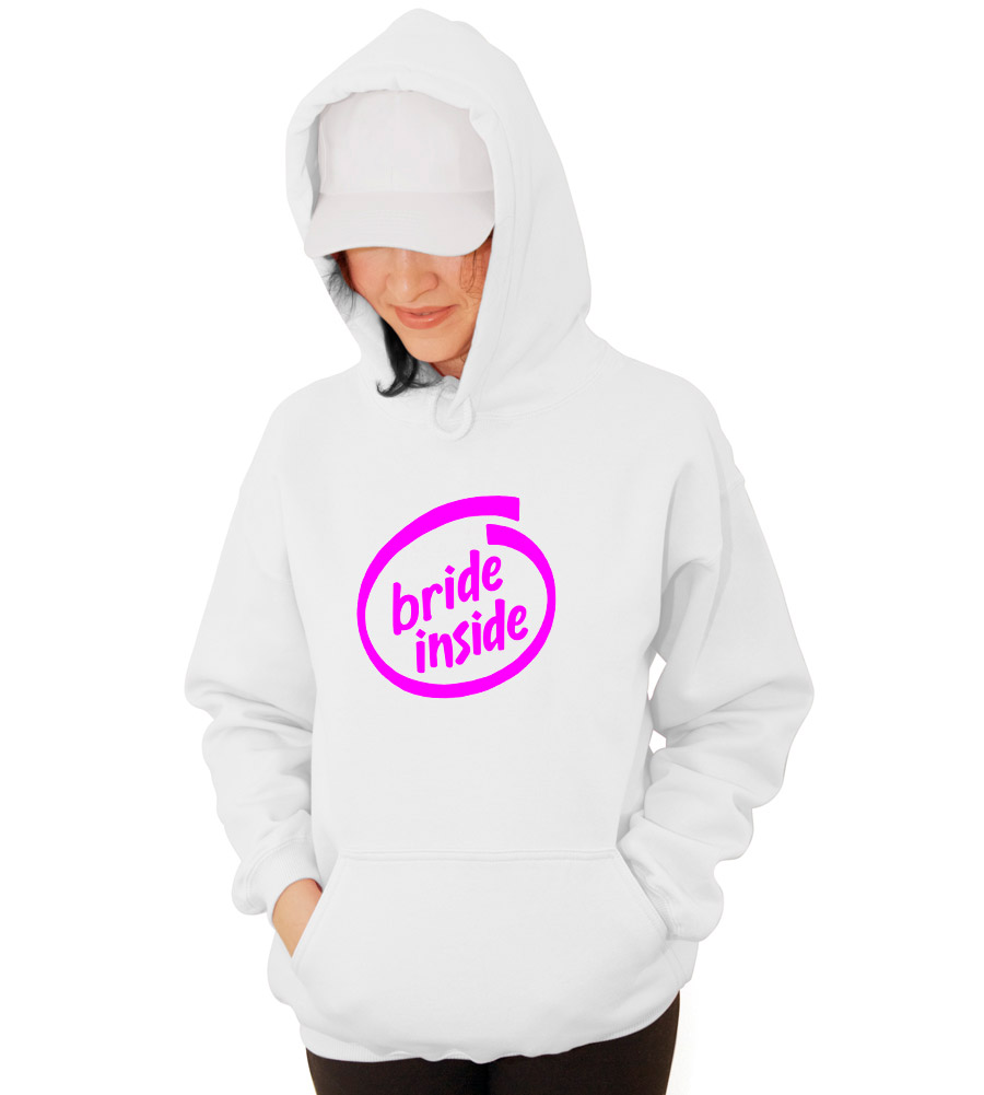 Bride Inside Wedding Hooded Sweatshirt